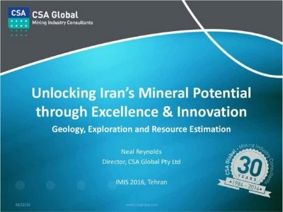 Realising Iran's Mineral Potential Through Excellence in Exploration & Mining