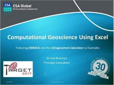 Computational Geoscience Using Microsoft Excel