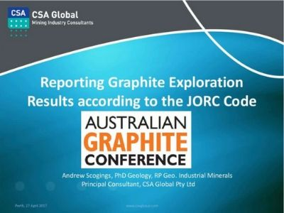 Reporting Graphite Exploration Results According to JORC Code