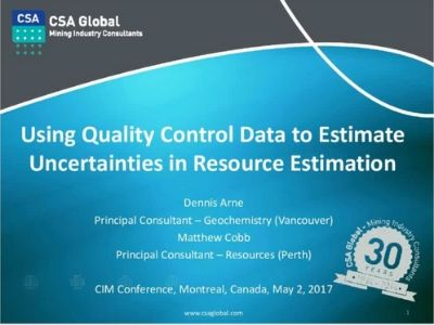 Using QC Data to Estimate Uncertainty