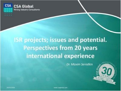 ISR Projects; Issues & Potential
