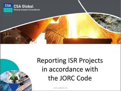 CSIRO ISR – JORC & ISR Keynote