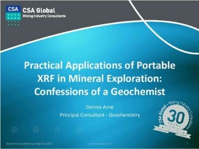 Practical Applications of Portable XRF in Mineral Exploration