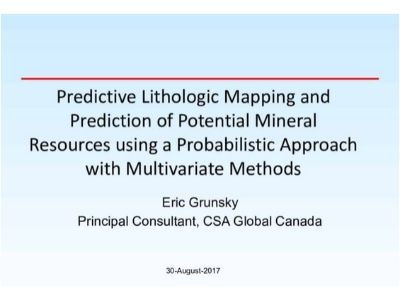Predictive Lithologic Mapping & Prediction of Potential Mineral Resources