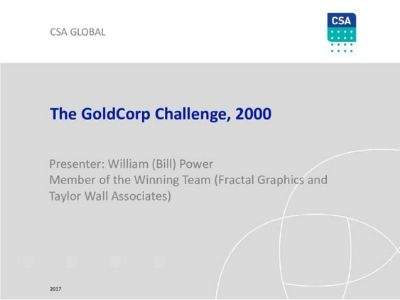 How We Won the GoldCorp Challenge – A Look at the Winning Entry