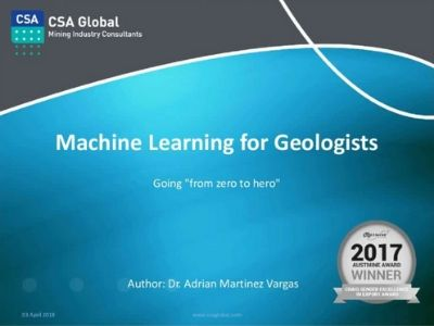 Machine Learning for Geologists