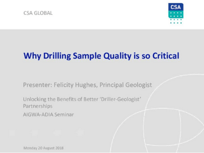 Why Drilling Sample Quality is so Critical
