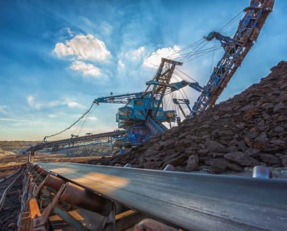 Mining conveyor and stockpile