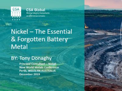 Nickel – The Essential & Forgotten Battery Metal