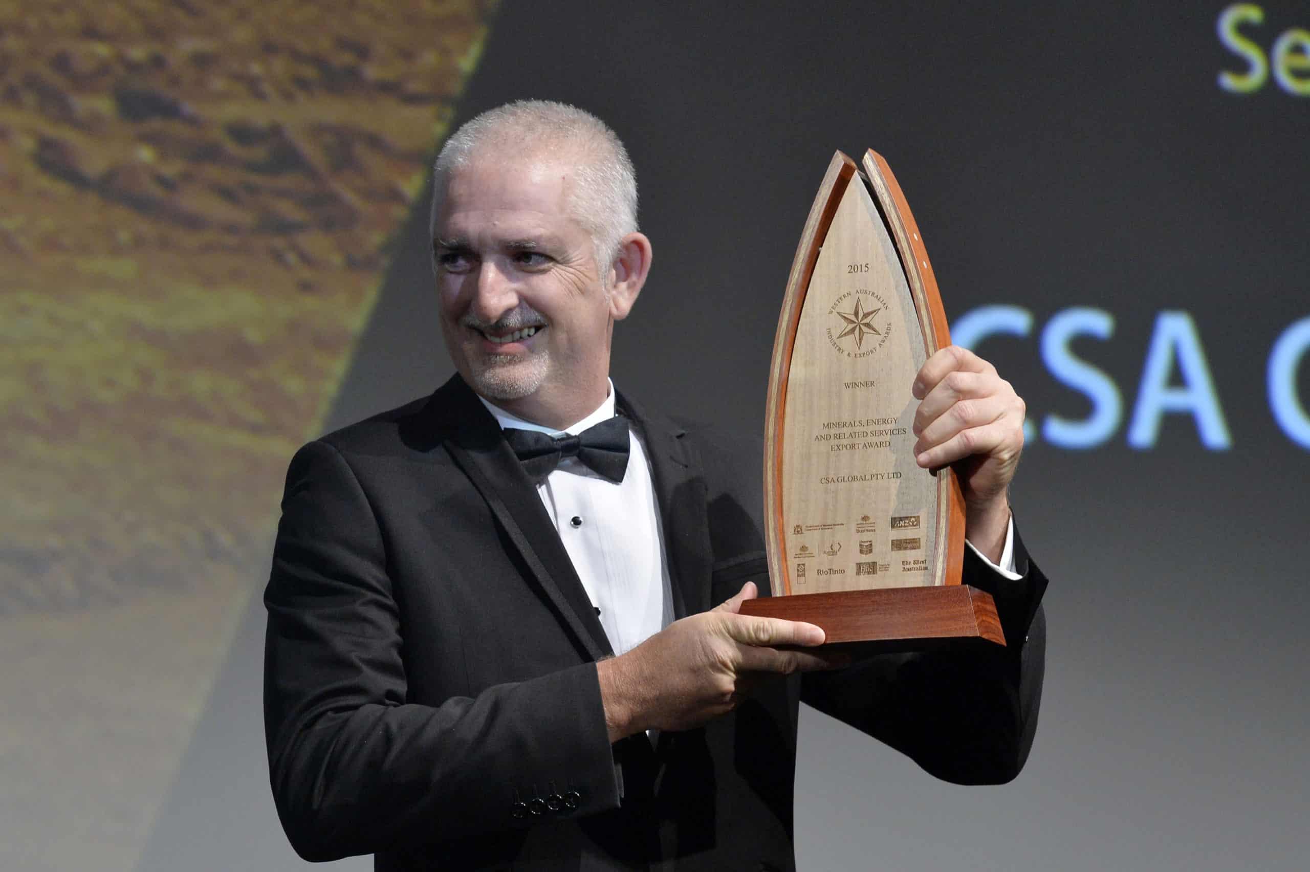 Jeff with 2015 WESTERN AUSTRALIAN EXPORT AWARD