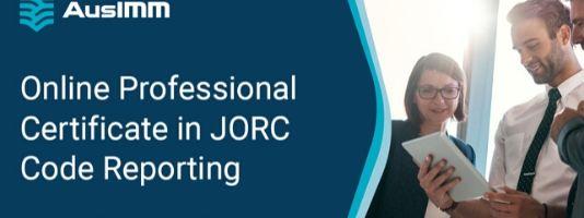 Online Professional Certificate in JORC Code Reporting