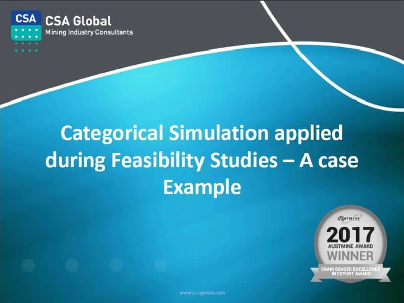 Categorical Simulation Applied During Feasibility Studies