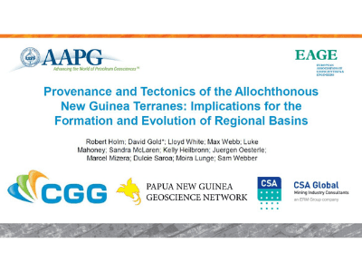 Provenance and Tectonics of the Allochthonous New Guinea Terranes