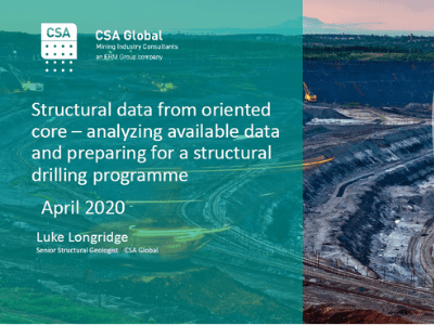 Structural Data Analysis and Planning