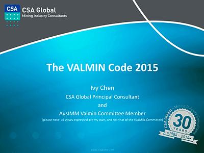 The Valmin Code 2015
