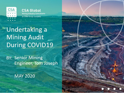 Undertaking a Mining Audit During COVID-19