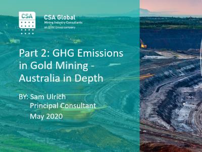 Part 2: GHG Emissions in Gold Mining – Australia in Depth