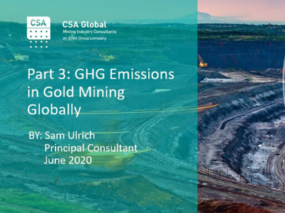 Part 3: GHG Emissions in Gold Mining Globally