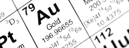 Gold on the periodic table