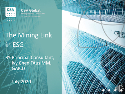 The Mining Link in ESG