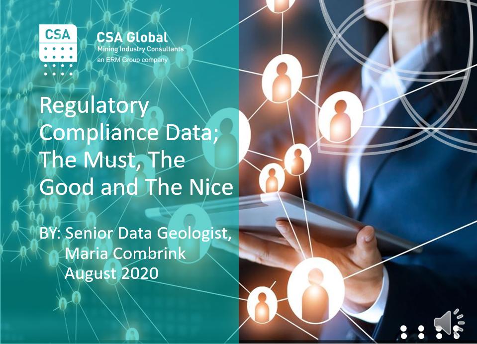 Regulatory Compliance Data Presentation