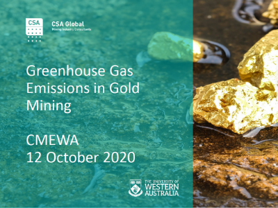 Greenhouse Gas Emissions in Gold Mining