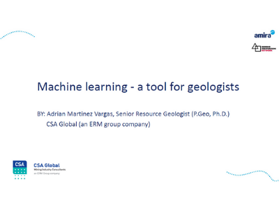 Machine Learning – A Tool for Geologists
