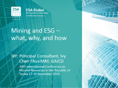 Mining and ESG – what, why, and how