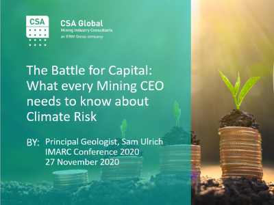 The Battle for Capital: What every Mining CEO needs to know about climate risk