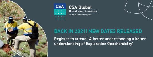 2021 Exploration Geochemistry Dates