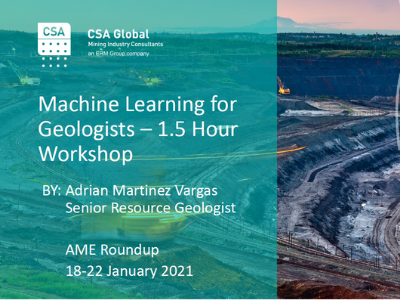 Machine Learning for Geologists Workshop
