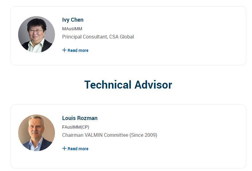Course facilitators and technical advisor
