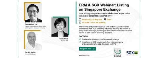 ERM & SGX Webinar: Listing on Singapore Stock Exchange