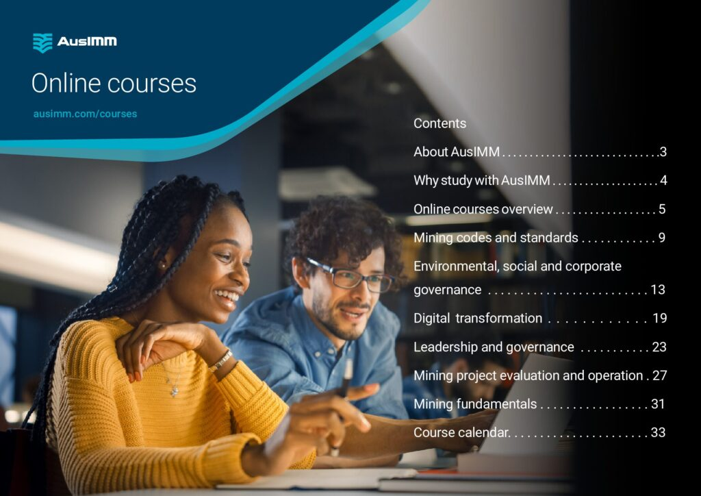 AusIMM Courses Brochure Cover