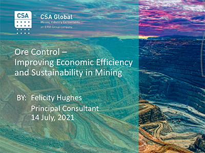 Ore Control – Improving Economic Efficiency and Sustainability in Mining