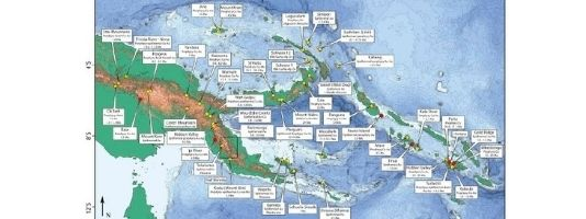 Locations of known porphyry copper deposits