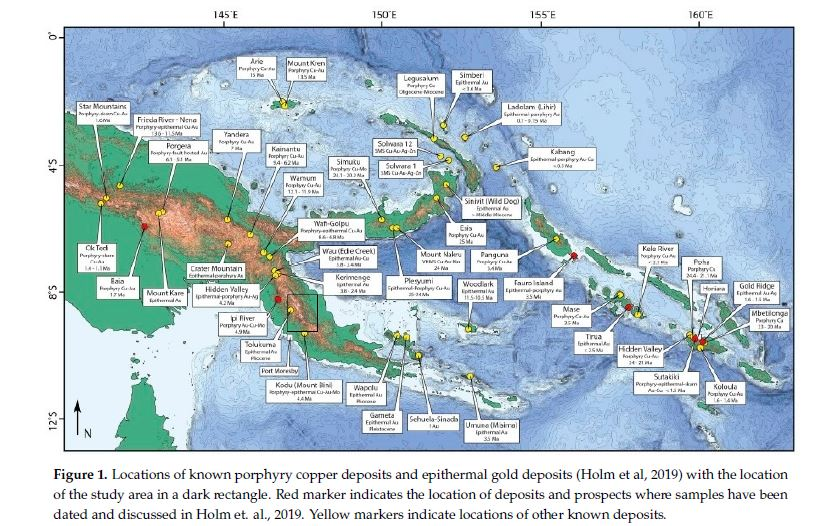 Figure 1: Locations of known porphyry copper deposits