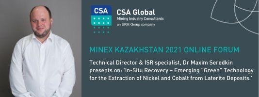 Maxim Seredkin attending MINEX Kazakhstan 2021