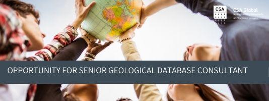 Senior Geological Database Consultant